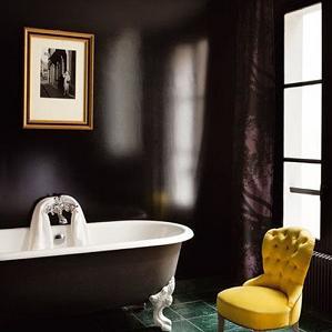 Black Walls Bathroom