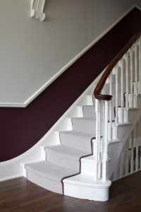 purple-stairs - Paint Colours for Your Hallway
