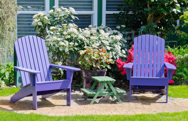 painted garden furniture spruce up your garden and patio furniture