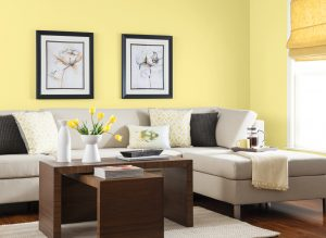 Buttercup Yellow living space - Decorating with Shades of Yellow Paint