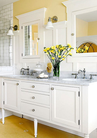 BAthroom - Decorating with Shades of Yellow Paint