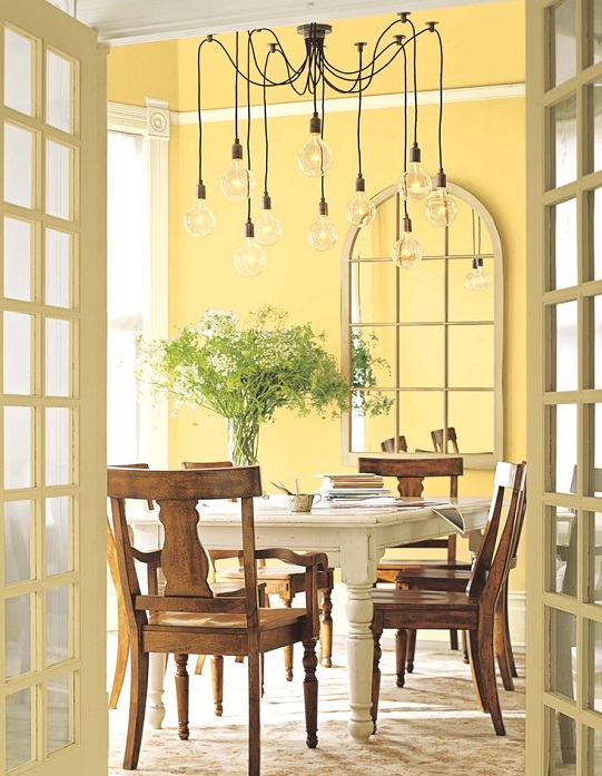 dining room - Decorating with Shades of Yellow Paint