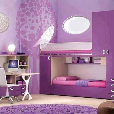 colour ideas for painting kids bedrooms - purple