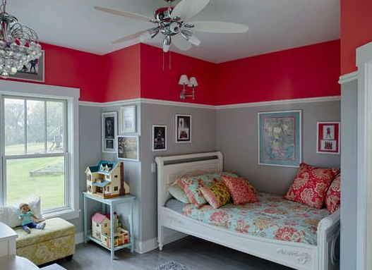 colour ideas for painting kids bedrooms grey and red bedroom