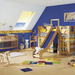 colour ideas for painting kids bedrooms - blue baby bedroom