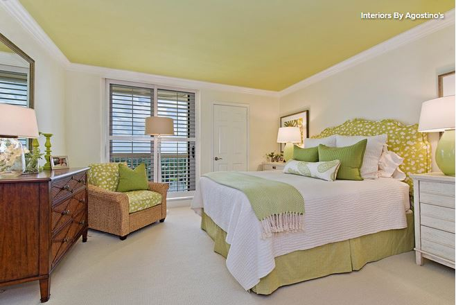 Shades of green and where to use them - Houzz bedroom