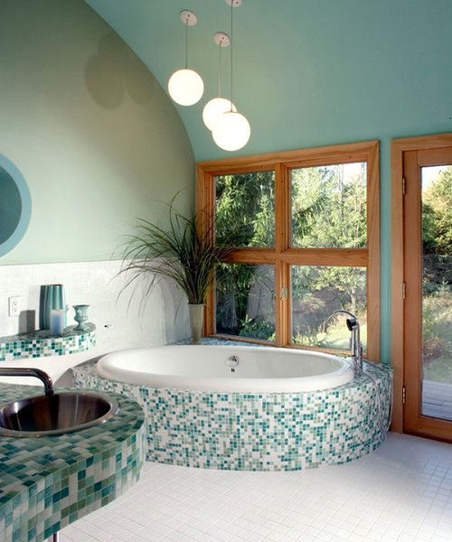 Shades of green and where to use them - bathroom