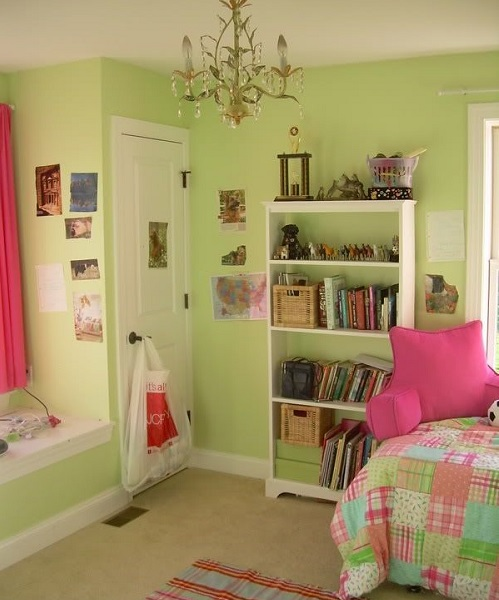 Shades of green and where to use them - playroom