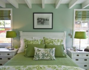Shades of green and where to use them - bedroom