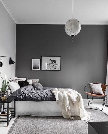 Bedroom - decorating with grey paint