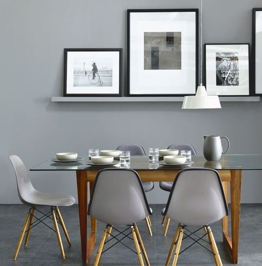 Decorating with grey paint in the dining room