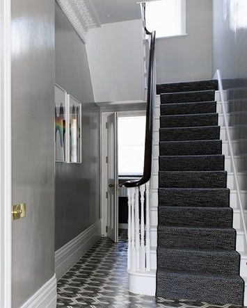 Hallway - decorating with grey paint
