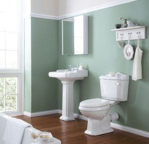Choosing the right paint colour for your bathroom -green bathroom
