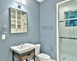 Blue BAthroom - paint colour for your bathroom