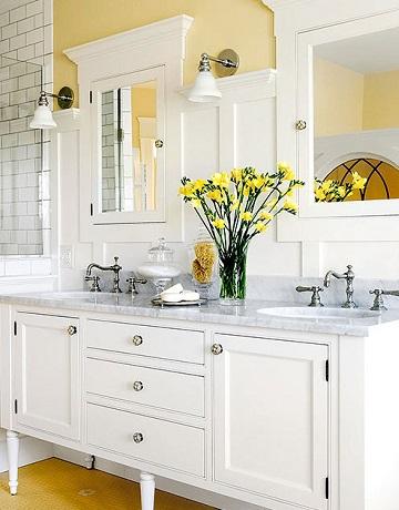 Yellow bathroom - paint colour for your bathroom