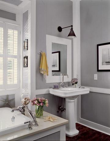 Grey bathroom - paint colour for your bathroom