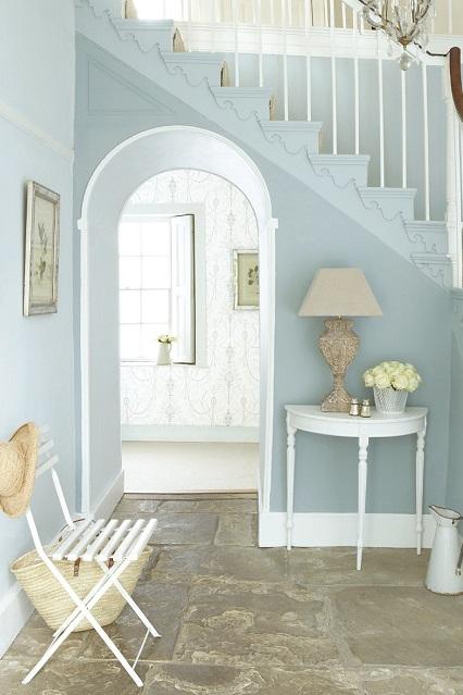 Blue Hallway - paint colours for your hallway