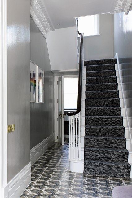 Grey Hallway - paint colours for your hallway