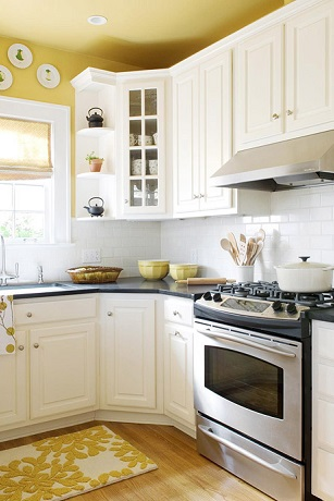 Yellow painted kitchen - New Ideas for Painting Your Kitchen.