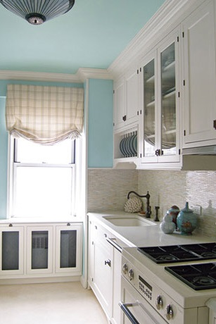 Blue painted kitchen - New Ideas for Painting Your Kitchen.