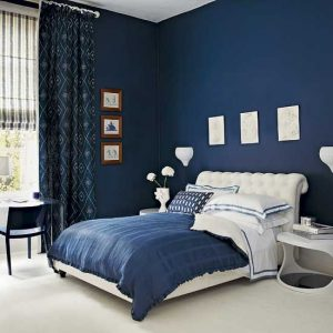 period style dark blue in master bedroom - shades of blue paint